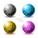 Insieme delle palle della discoteca Immagine Stock