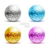 Insieme delle palle della discoteca Fotografia Stock Libera da Diritti