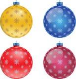 Insieme delle palle variopinte di Natale, illustrazione Immagini Stock