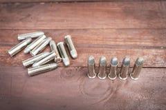 Insieme delle pallottole per la pistola della mano di 38 revolver Immagini Stock