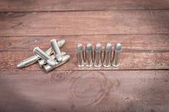 Insieme delle pallottole per la pistola della mano di 38 revolver Fotografia Stock Libera da Diritti