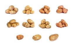 Insieme delle patate su bianco Fotografie Stock