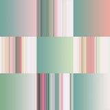 Insieme delle pendenze astratte pastelli variopinte e delle strisce Fotografia Stock