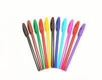 Insieme delle penne variopinte Fotografia Stock