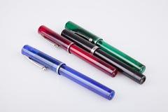 Insieme delle penne variopinte Immagini Stock Libere da Diritti