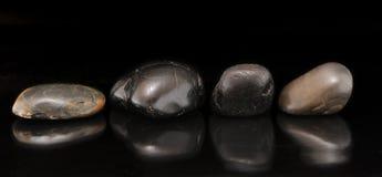 Insieme delle pietre del fiume Fotografia Stock