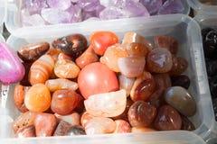 Insieme delle pietre preziose minerali naturali Immagine Stock Libera da Diritti