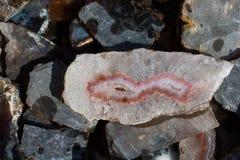 Insieme delle pietre preziose minerali naturali Fotografie Stock Libere da Diritti