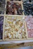 Insieme delle pietre preziose minerali naturali Fotografia Stock Libera da Diritti