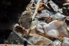 Insieme delle pietre preziose minerali naturali Immagini Stock