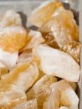 Insieme delle pietre preziose minerali naturali Immagine Stock
