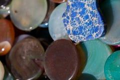 Insieme delle pietre preziose minerali naturali Fotografie Stock