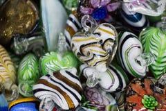 Insieme delle pietre preziose minerali naturali di vario tipo Fotografia Stock Libera da Diritti