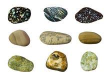 Insieme delle pietre variopinte del mare Fotografia Stock Libera da Diritti