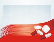 Insieme delle pillole sui precedenti astratti Fotografia Stock Libera da Diritti