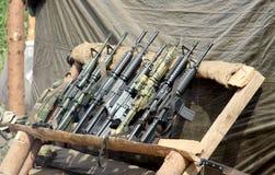 Insieme delle pistole automatiche, vecchio, WWII Fotografie Stock