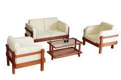 Insieme delle poltrone, del sofà e della tabella Fotografie Stock Libere da Diritti
