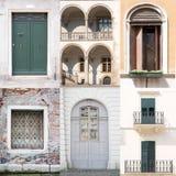 Insieme delle porte e delle finestre Immagine Stock Libera da Diritti