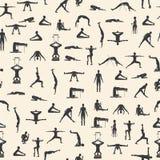 Insieme delle pose di yoga Fotografia Stock