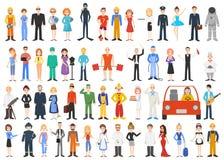 Insieme delle professioni differenti Immagini Stock Libere da Diritti