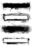 Insieme delle progettazioni macchiate di inchiostro di lerciume Fotografia Stock Libera da Diritti