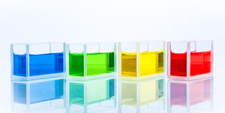 Insieme delle provette con il liquido di colore Immagine Stock Libera da Diritti