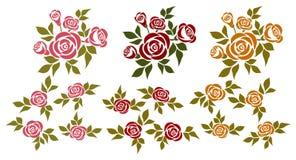 Insieme delle rose Fotografie Stock Libere da Diritti