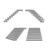 Insieme delle scale 3d, modello di vettore per la vostra progettazione Fotografie Stock