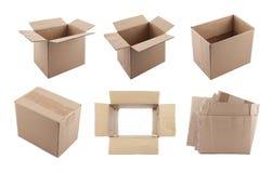 Insieme delle scatole di cartone Fotografie Stock