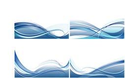 Insieme delle schede con il vettore blu astratto Immagini Stock Libere da Diritti