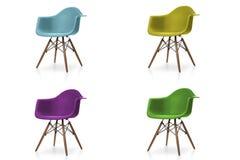 Insieme delle sedie del tessuto di colore Fotografie Stock