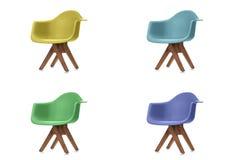 Insieme delle sedie del tessuto di colore Fotografia Stock Libera da Diritti