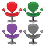 Insieme delle sedie moderne Fotografia Stock Libera da Diritti