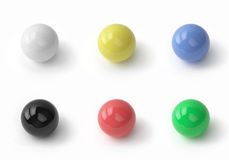 Insieme delle sfere colorate Fotografia Stock Libera da Diritti
