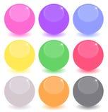 Insieme delle sfere colorate Fotografie Stock Libere da Diritti