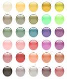 Insieme delle sfere di vetro colorate Immagini Stock Libere da Diritti