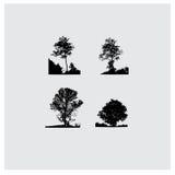 Insieme delle siluette dell'albero di vettore Immagine Stock Libera da Diritti