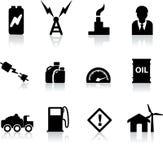 Insieme delle siluette nere per potenza, energia royalty illustrazione gratis