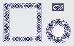 Insieme delle spazzole etniche del modello dell'ornamento Immagine Stock Libera da Diritti