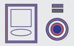 Insieme delle spazzole etniche del modello dell'ornamento Fotografia Stock Libera da Diritti