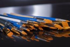 Insieme delle spazzole per la pittura fotografie stock libere da diritti