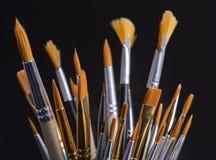 Insieme delle spazzole per la pittura fotografia stock libera da diritti