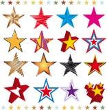 Insieme delle stelle Fotografia Stock