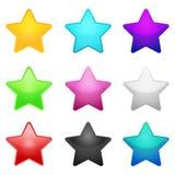 Insieme delle stelle di colore Immagini Stock Libere da Diritti