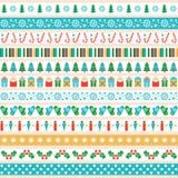Insieme delle strisce del nastro di Natale illustrazione di stock