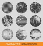 Insieme delle strutture circolari d'annata di vettore Fotografie Stock Libere da Diritti
