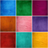 Insieme delle strutture dello stucco del gesso a colori Fotografia Stock