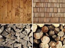 Insieme delle strutture di legno Immagini Stock