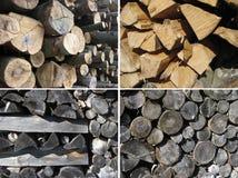 Insieme delle strutture di legno Immagini Stock Libere da Diritti