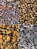 Insieme delle strutture di legno Fotografie Stock